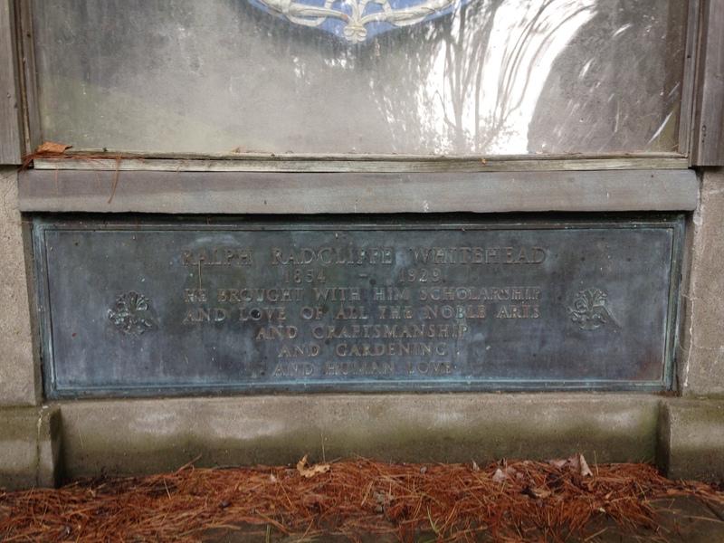 Ralph Radcliffe Whitehead's Gravestone