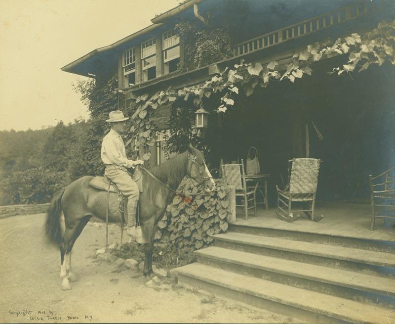 Ralph Radcliffe Whitehead on horseback.