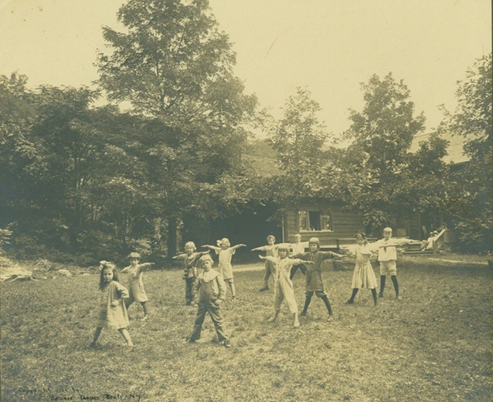 Children Exercising on the Grounds at Byrdcliffe